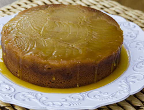 Butterscotch apple upside down cake